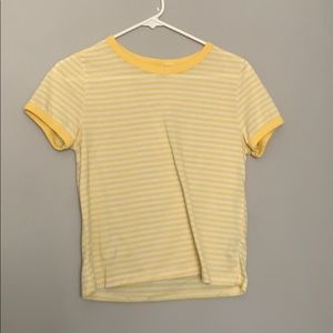 Yellow and White Striped T-Shirt